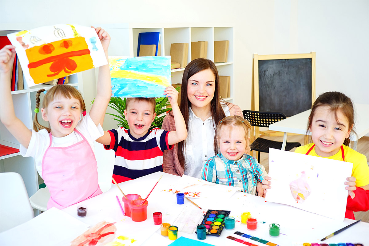 Cardiff Child Care Centre - children between 6 weeks and 6 years - children art activity